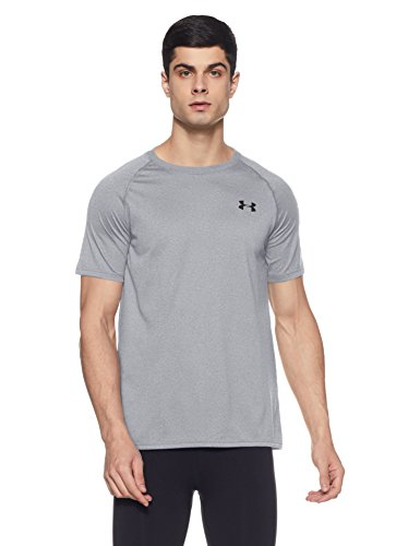 Under Armour Men's Tech Short Sleeve T-Shirt, True Gray Heather /Black, XXXXX-Large by Under Armour (Image #1)