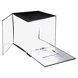 """Fotodiox Pro LED 28x28"""" Studio-in-a-Box for Table Top Photography - Includes light tent, Integrated Dimmable LED Lights, carrying case and four backdrops"""