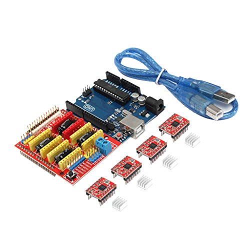 Flameer 3D Printer Controller Kit for Arduino Mega 2560 R3 Starter Kits +CNC Shield Board + 4pcs A4988 Stepper Motor Driver + LCD for Arduino Reprap
