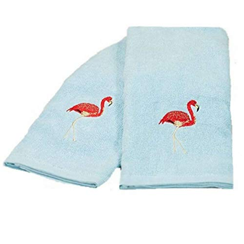 (Flamingo Paradise Bath Set of 2 Hand Towels)