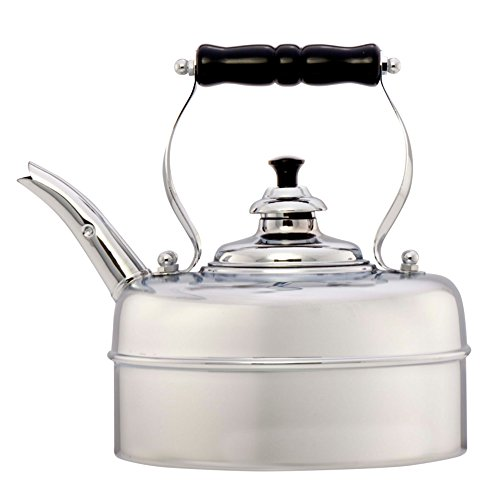 - Simplex Kettles Kensington Solid Copper No. 3 Chrome Plated Finish 1.9 Quart Teakettle