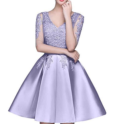 Mini Marie Einfach Lawender Partykleider Abendkleider Spitze Rock Cocktailkleider Tanzenkleider Braut La 8qW4RTgwR