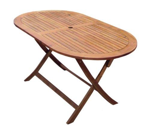 Charles Bentley Garden Wooden Furniture Oval Table