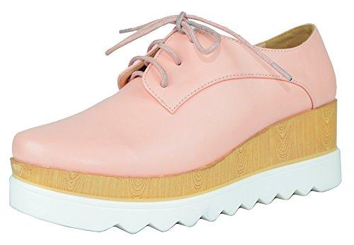 Pink Wedges Platforms - 9