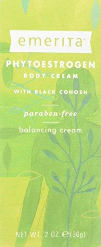 Natural Phytoestrogen Cream - Emerita Phytoestrogen Body Cream with Black Cohosh, 2-Ounce Tube