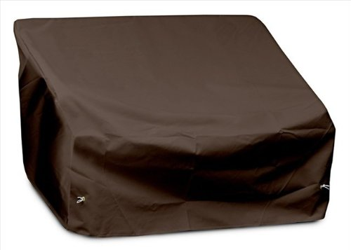 KoverRoos 92350 2-Seat/Loveseat Cover, Choose Fabric Color: 9: Chocolate