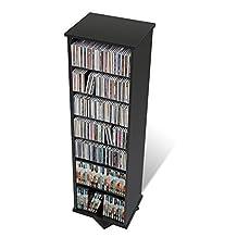 Prepac BMS-0525 Swivel Media Storage Tower (Black)