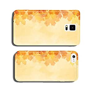 Textured Autumn leaf background with room for copy space. cell phone cover case Samsung S6