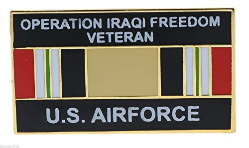 US Air Force Operation Iraqi Freedom Veteran Ribbon Hat or Lapel Pin H14547D9 - Iraqi Freedom Veteran Hat Pins