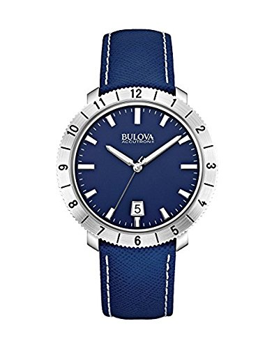 (Bulova Accutron II Moonview Blue Leather Strap)