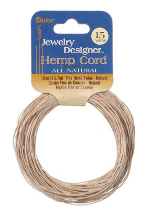 - Fine Hemp Twine, 15 Yard/pkg, Natural, (Pack of 1)