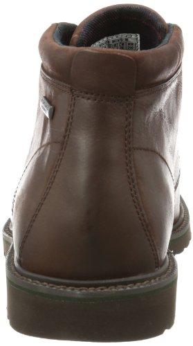Rockport LEDGE HILL WP CHUKKA - Botas Chukka de cuero hombre marrón - Braun (DK BROWN)