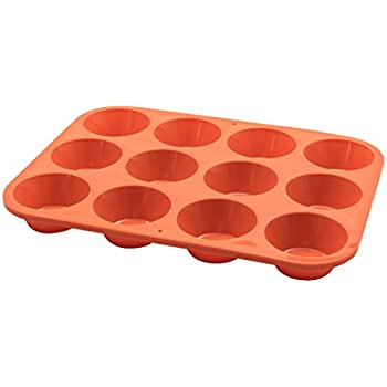 Set of 2 Set of 2 SKU-KW888SET19RD Color-Red SKU-Marathon Premium Silicone 12 Cup Mini Muffin Pans Marathon Premium Silicone 12 Cup Mini Muffin Pans Color-Red