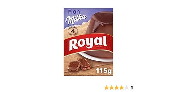 Royal Flan de Chocolate Milka, Preparado en Polvo 4 Raciones ...