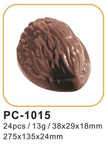Silicone Bakeware - Moldes Profesionales para Chocolate, de policarbonato, Forma de Nuez, Transparente, 27,5 x 13,5 x 2,4 cm, 24 Unidades: Amazon.es: Hogar
