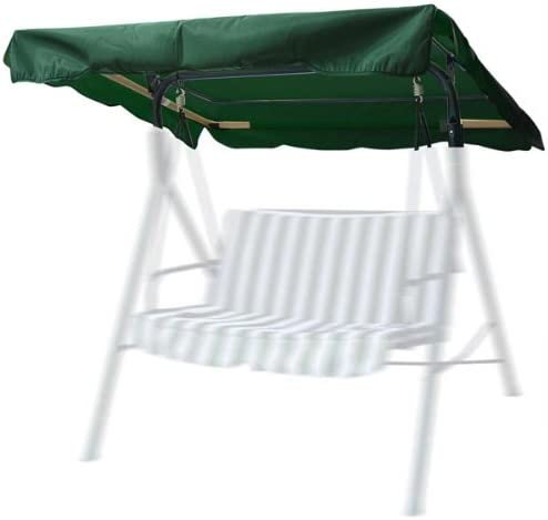 CHIMAERA 6.37 Foot Outdoor Patio Swing Canopy Replacement Green