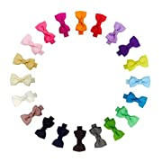 Ruyaa Tiny 2  Hair Bows Fully Lined Hair Clips for Baby Fine Hair Infants Toddlers