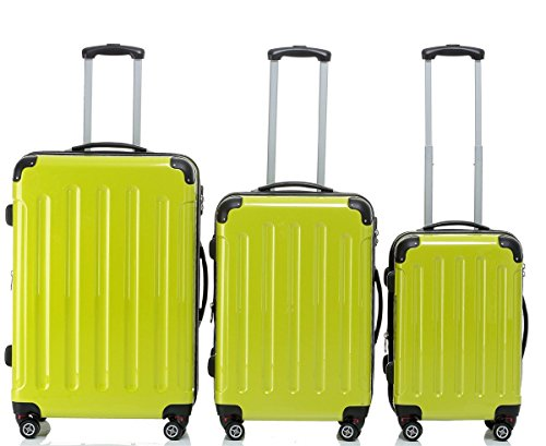 BEIBYE , Set di valigie Multicolore verde Set(XL/L/M)
