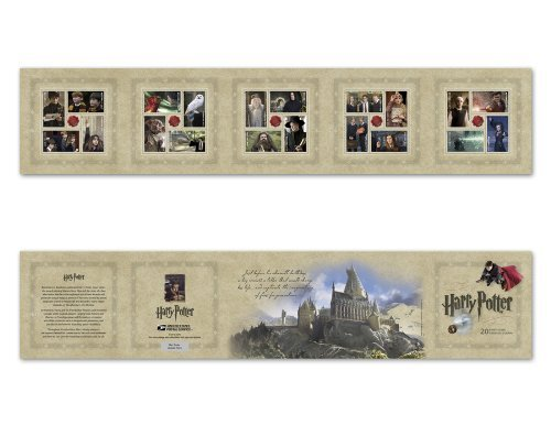 Harry Potter, Booklet of 20 x Forever Postage Stamps, USA 2013, Scott 4825-44 ()
