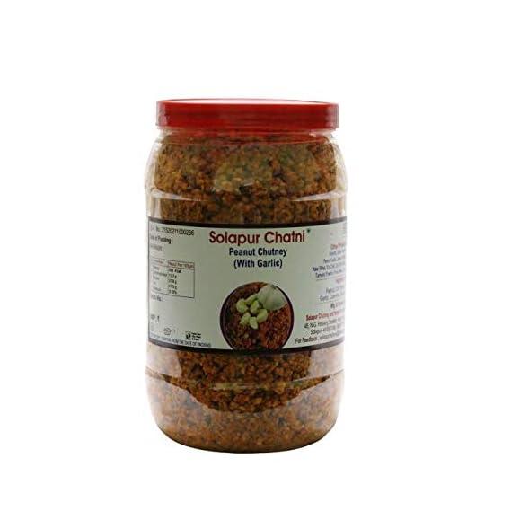 Solapur Chatni Peanut Chutney/ Shenga Chutney with Garlic (400 gm - 200 gm x 2)