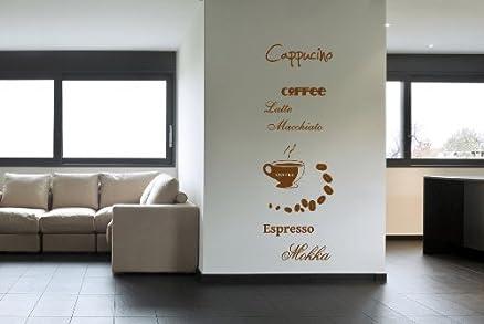 Adesivo da parete Wall Sticker Decal cucina caffè caffè cappuccino ...
