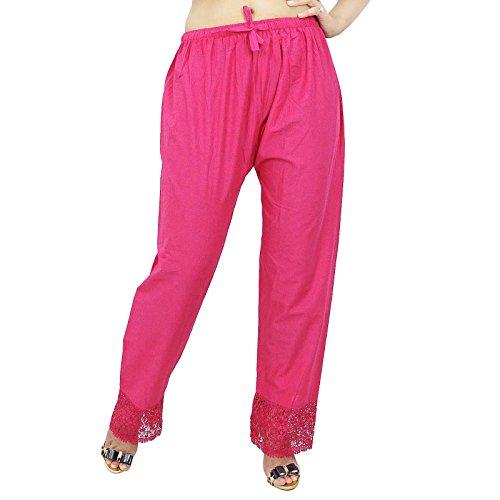 Mujeres Baggy Hippie Yoga Harem Aladdin pantalones harén pantalones casuales india regalo para ella Magenta