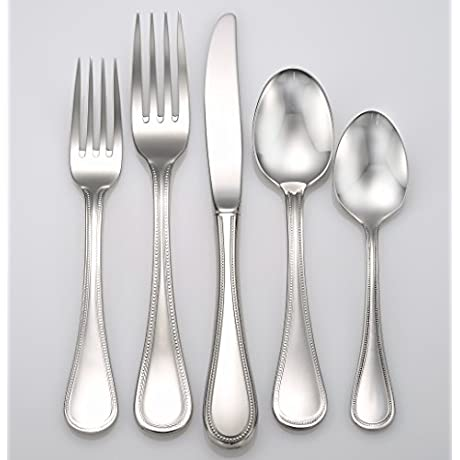 Liberty Tabletop Pearl 45 Piece 18 10 Flatware Set Service For 8 Includes Serving Pieces Made In USA
