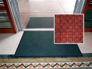"""Waterhog Style Entrance Mat - """"FloorGuard Diamond"""" - 4' x 6' - Red - Indoor or Covered Outdoor - Commercial or Residential"""