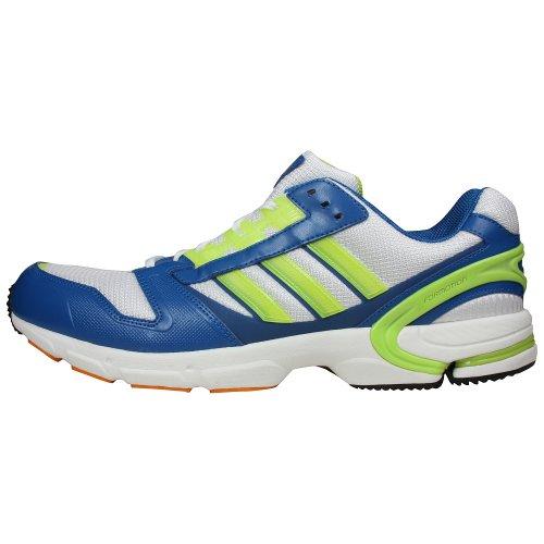adidas Mens ZX 8000 Running Shoe White/Slime/Orange