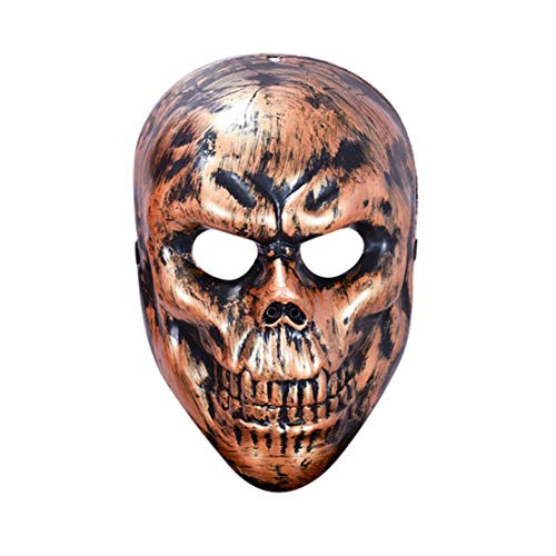Respctful Halloween Party Mask Cosplay Skeleton Face Terror Costume Accessory (copper) -