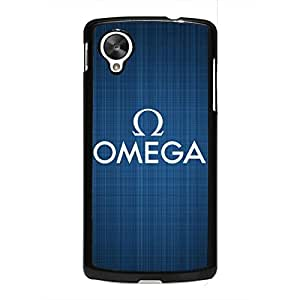 Blue Style Backdrop OMEGA Cellphone Cover for oogle Nexus 5,Black Protective Hybrid Aluminum Phone Skin