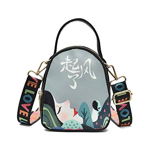 Graffiti Versatile Ladies Shoulder A Waterproof Donna dipinti moda Pu theft Handbag Anti Hwx Dust alla Pack 0O8wn4qXOR