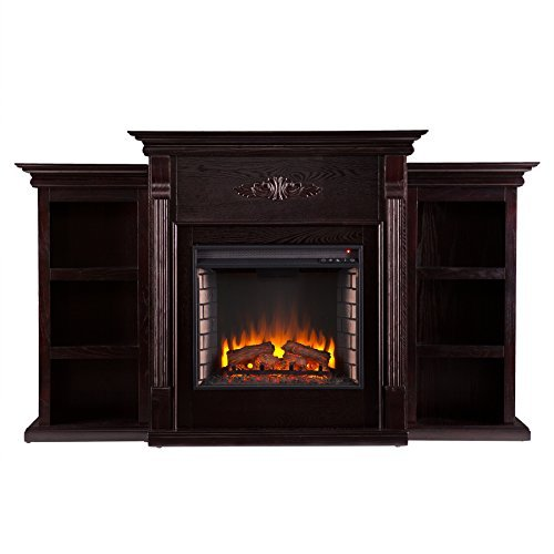 037732285450 - Tennyson Electric Fireplace w/ Bookcases - Classic Espresso carousel main 1