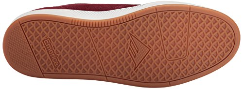 Emerica Laced By Leo Romero-M, Baskets mode homme Burgundy/white