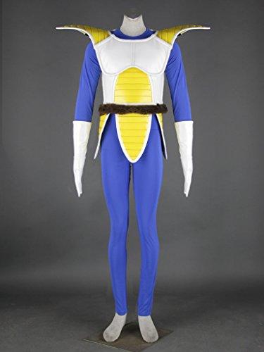 [Cosplaygalaxy Dragonball Kai Vegeta Saiyan Battle Version Cosplay Costume] (Dragon Ball Costume With Tail)