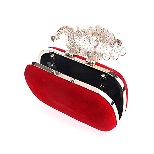 Crystal Purses With Evening Clutch Leeq Peacock Bags Rhinestones Cocktail Bling CFqHIw5