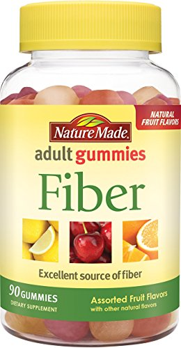 (Nature Made Fiber Adult Gummies 90 Count w. 6 g of Inulin Dietary Fiber per serving)