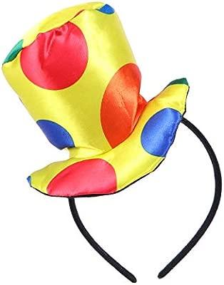 STOBOK Jester Diadema Payaso Sombrero Superior Diadema Traje ...
