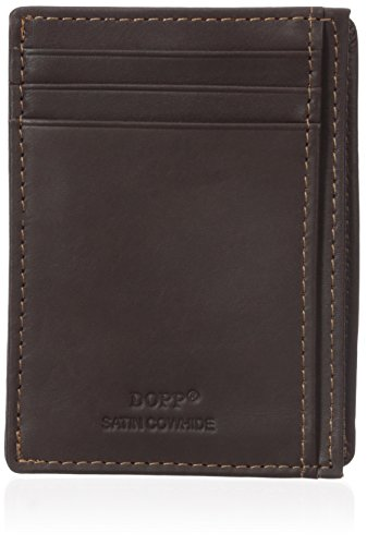 - Dopp Men's Regatta Front Pocket Get-away Minamalst Slim Wallet, Mahogany, One Size
