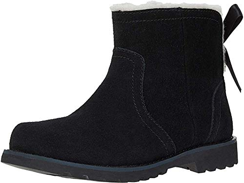 UGG Girls' Cecily Ankle Boot, Black, 4 M US Big Kid