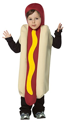 UHC Boy's Hot Dog Outfit Funny Theme Fancy Dress Toddler Child Halloween Costume, Child S (4-6)