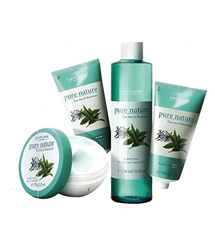 Pure Nature Facial Kit for Combination to Oily skin Tea Tree and Rosemary 4 pcs SD - With Free Expedited Shipping and Complementary Gifts!!