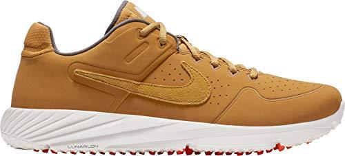 Nike Men's Alpha Huarache Elite 2 Turf Baseball Cleats (M8/W9.5, Tan/White)