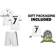 JerzeHero Real Madrid Cristiano Ronaldo #7 Soccer Jersey Youth Kids Gift Set ✓ Ronaldo Soccer Jersey ✓ Shorts ✓ Soccer Backpack ✓ Home or Away