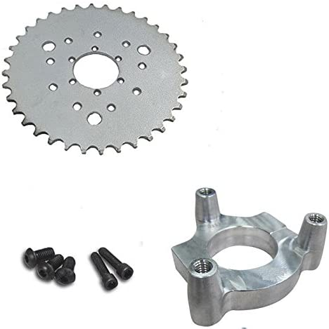 DONSP1986 Rear Hub Adapter 1 and 36t Sprocket for 4 Stroke 2 Stroke Engine kit-Gas Motorized Bike