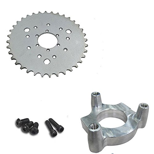"dolphin1986 Hub Adapter 1"" and Multifunctional 36 Teeth Sprocket 3+6+9 Holes for Engine"