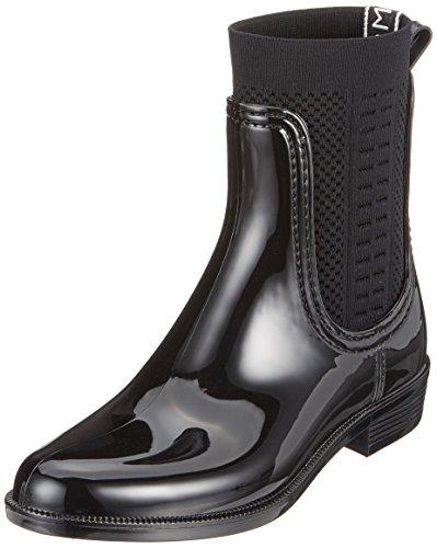 Tommy Hilfiger Tommy Knit Rain Boot, Bottes et Bottines de Pluie Femme Noir (Black 990)