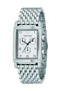 Emporio Armani AR0294 - Reloj para hombres, correa de acero inoxidable color plateado