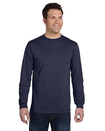 econscious Men's 100% Organic Cotton Long Sleeve Tee (Pacific, Small)