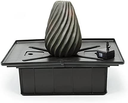 Aquascape 58054 Pump and Basin for Landscape and Garden Swirly Vase Water Fountain Kit, 18-1 2